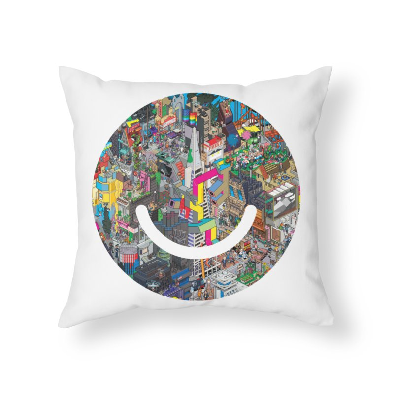 HelloSFello - eBoy Home Throw Pillow by Ello x Threadless