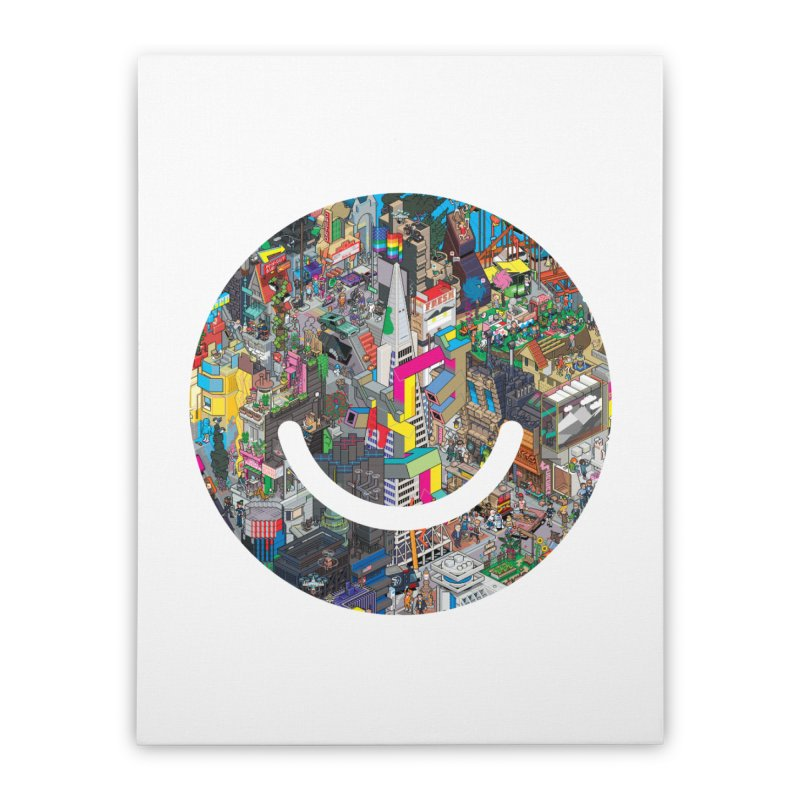 HelloSFello - eBoy Home Stretched Canvas by Ello x Threadless