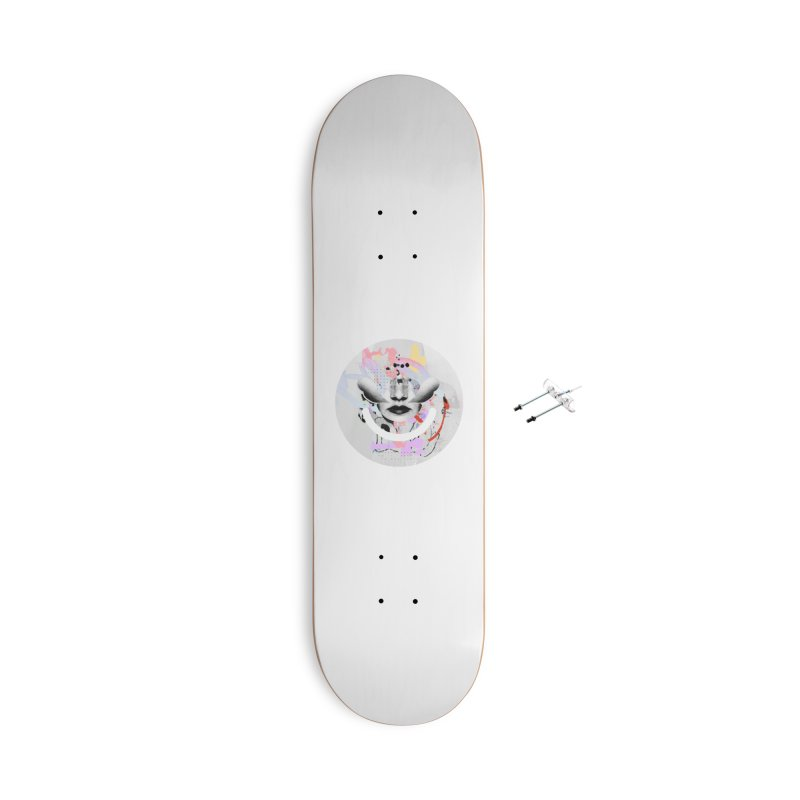 Rise Above - Mydeadpony Accessories Skateboard by Ello x Threadless