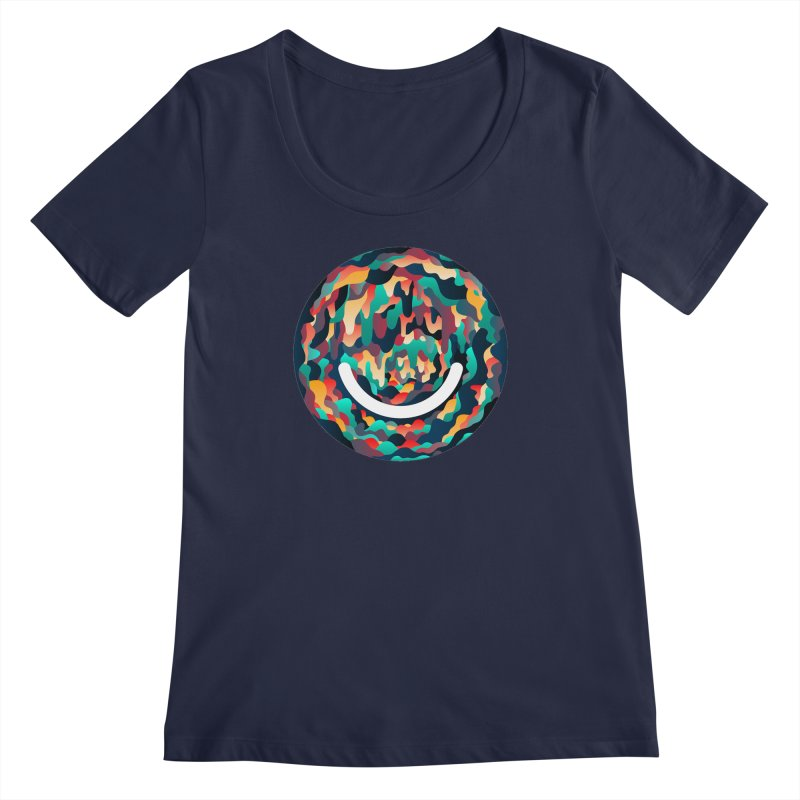 Color Cave - Chuck Anderson Women's Regular Scoop Neck by Ello x Threadless