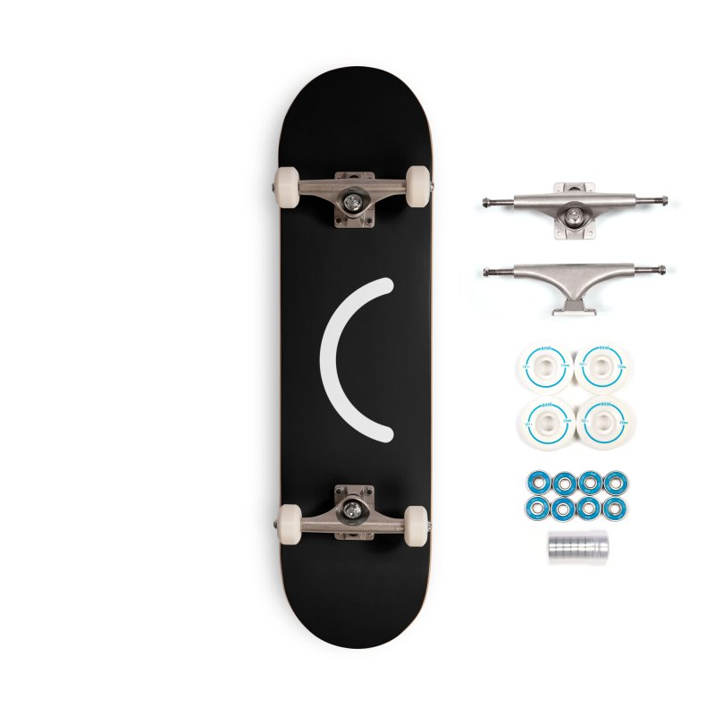 Black Ello Smile Accessories Skateboard by Ello x Threadless