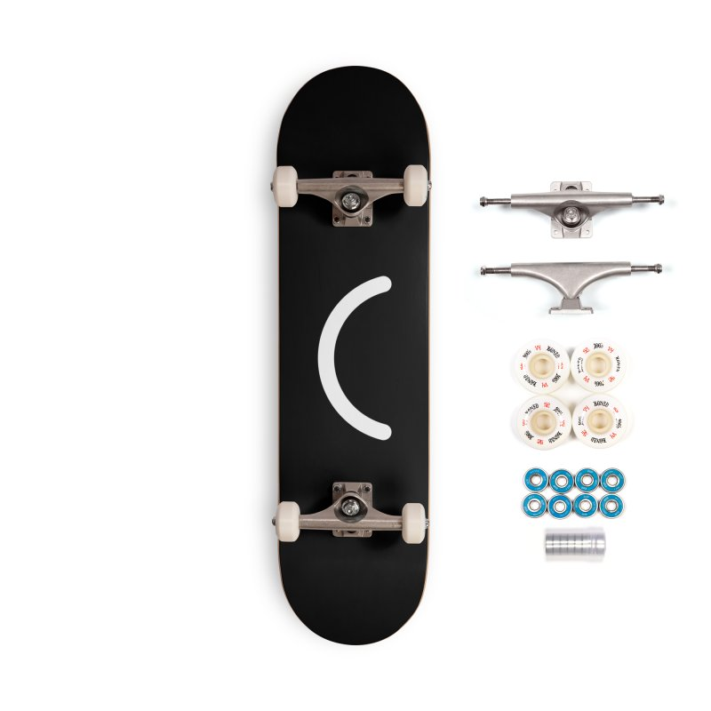 Black Ello Smile Accessories Skateboard by Ello x Threadless
