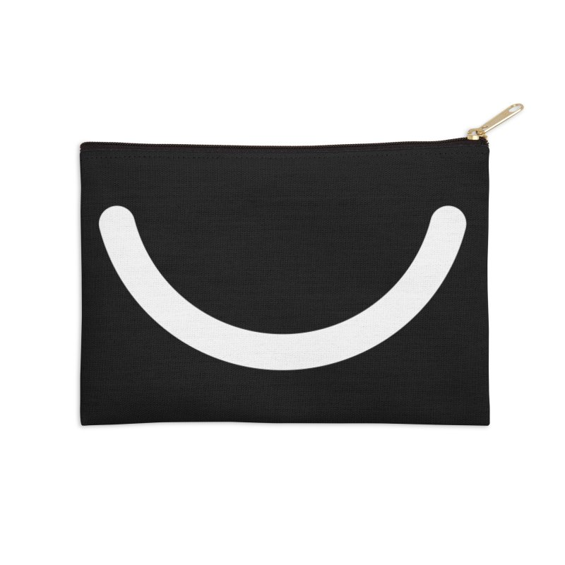 Black Ello Smile Accessories Zip Pouch by Ello x Threadless