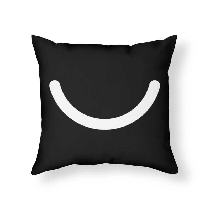 Black Ello Smile Home Throw Pillow by Ello x Threadless