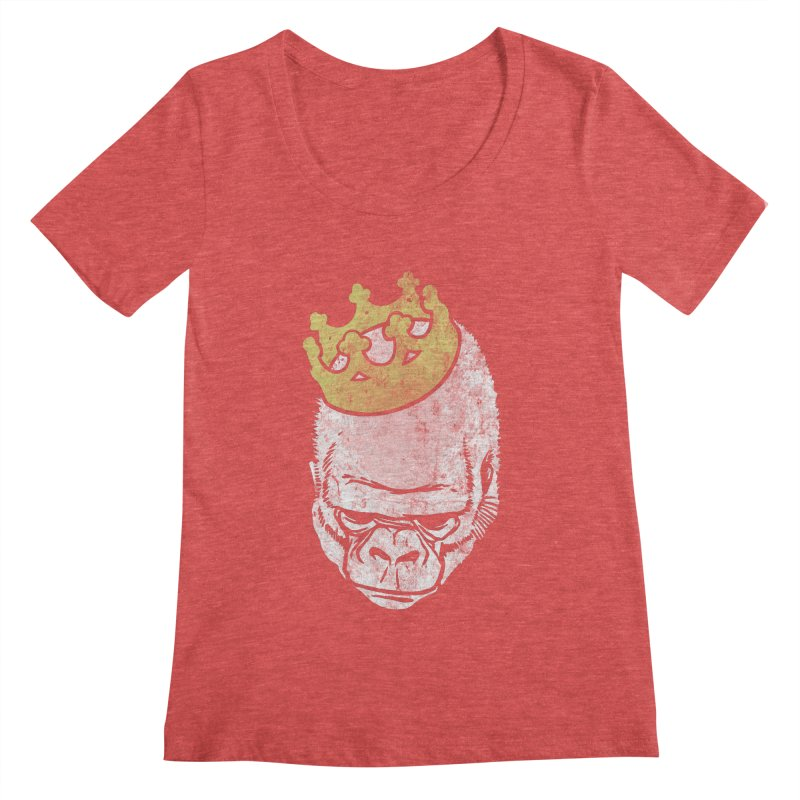 Even Kings Fall Women's Scoopneck by Ellsswhere Studios