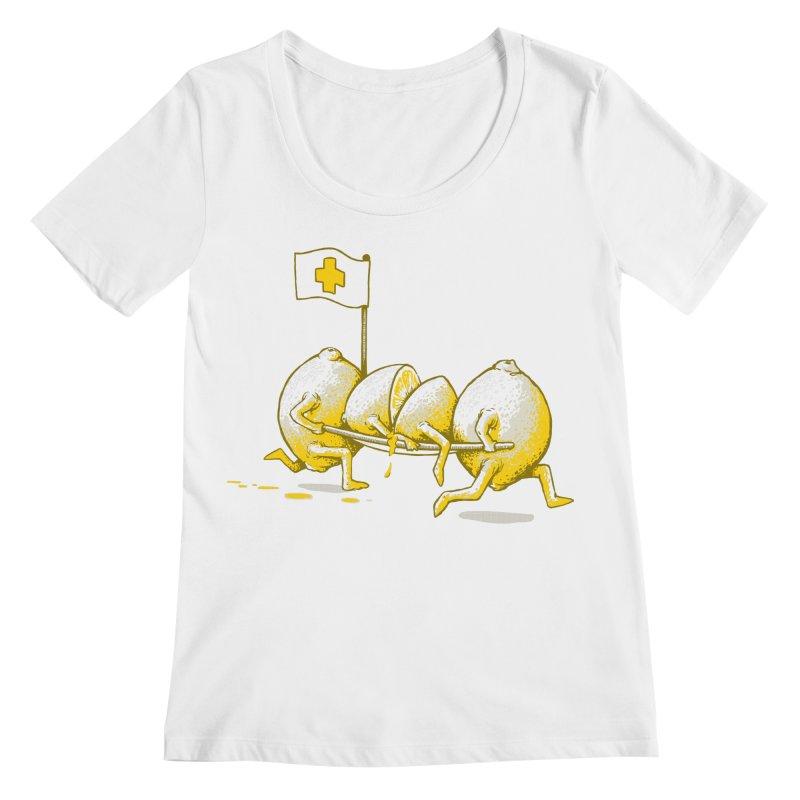 Lemon Aid Women's Scoopneck by Ellsswhere Studios
