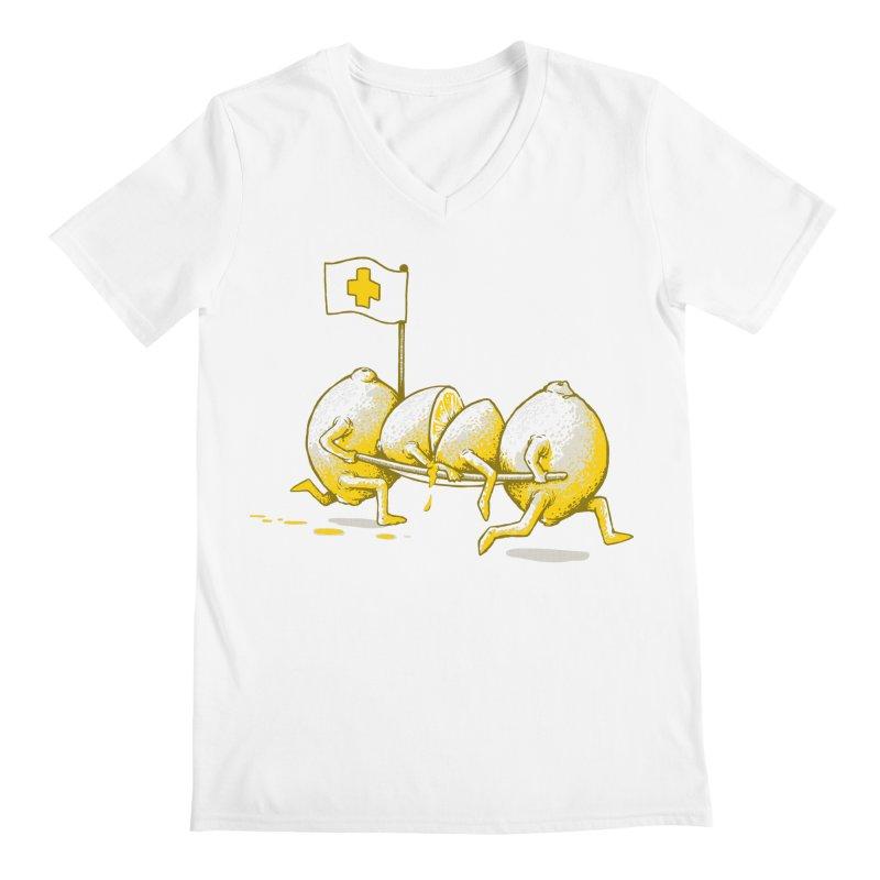 Lemon Aid Men's V-Neck by Ellsswhere Studios