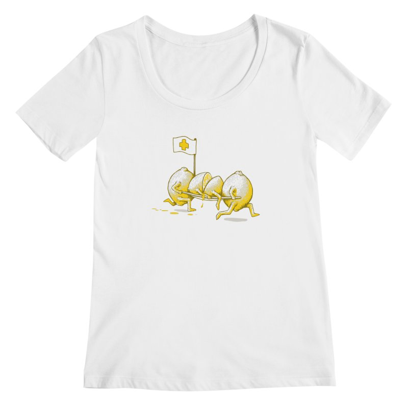 Lemon Aid Women's Scoopneck by Ellsswhere Studios