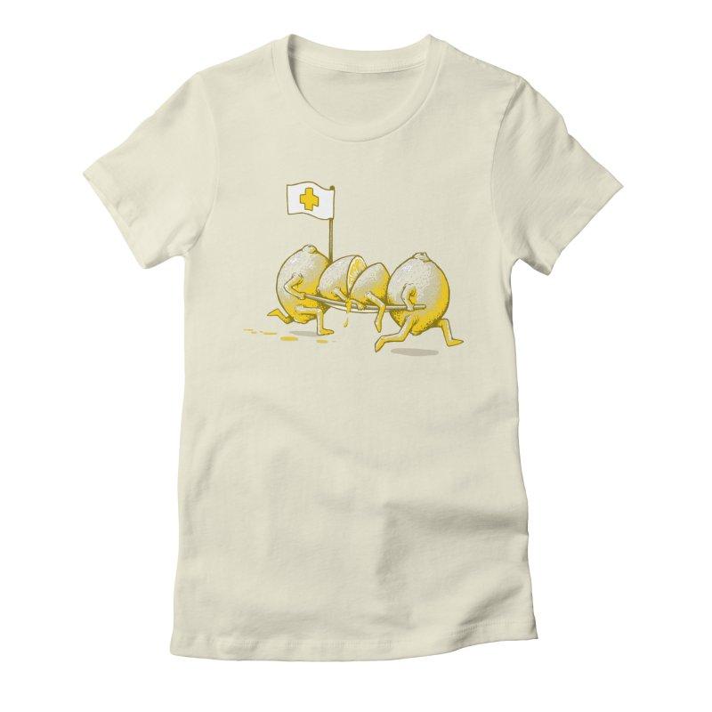 Lemon Aid Women's Fitted T-Shirt by Ellsswhere Studios