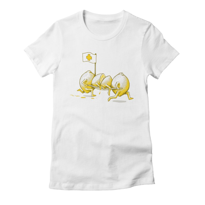 Lemon Aid Women's Fitted T-Shirt by Ellsswhere Studios