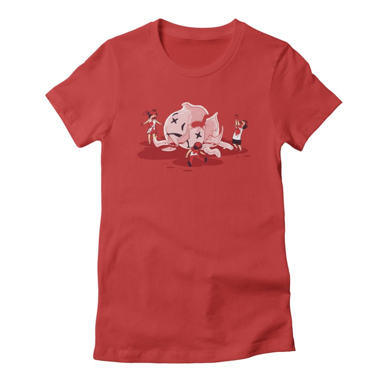 Oh No Women's Fitted T-Shirt by Ellsswhere Studios