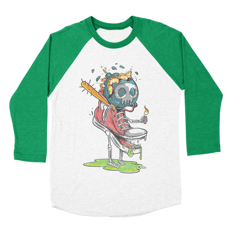 Self Destruct Women's Baseball Triblend T-Shirt by Ellsswhere Studios