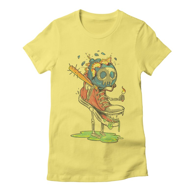 Self Destruct Women's Fitted T-Shirt by Ellsswhere Studios