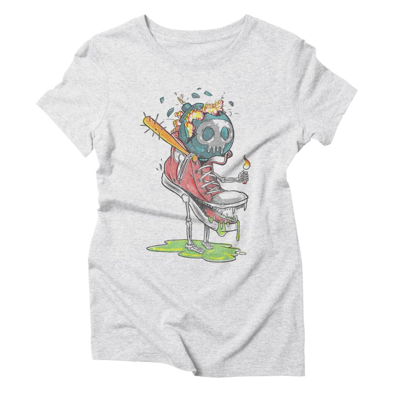 Self Destruct Women's Triblend T-shirt by Ellsswhere Studios