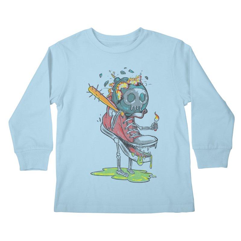 Self Destruct Kids Longsleeve T-Shirt by Ellsswhere Studios