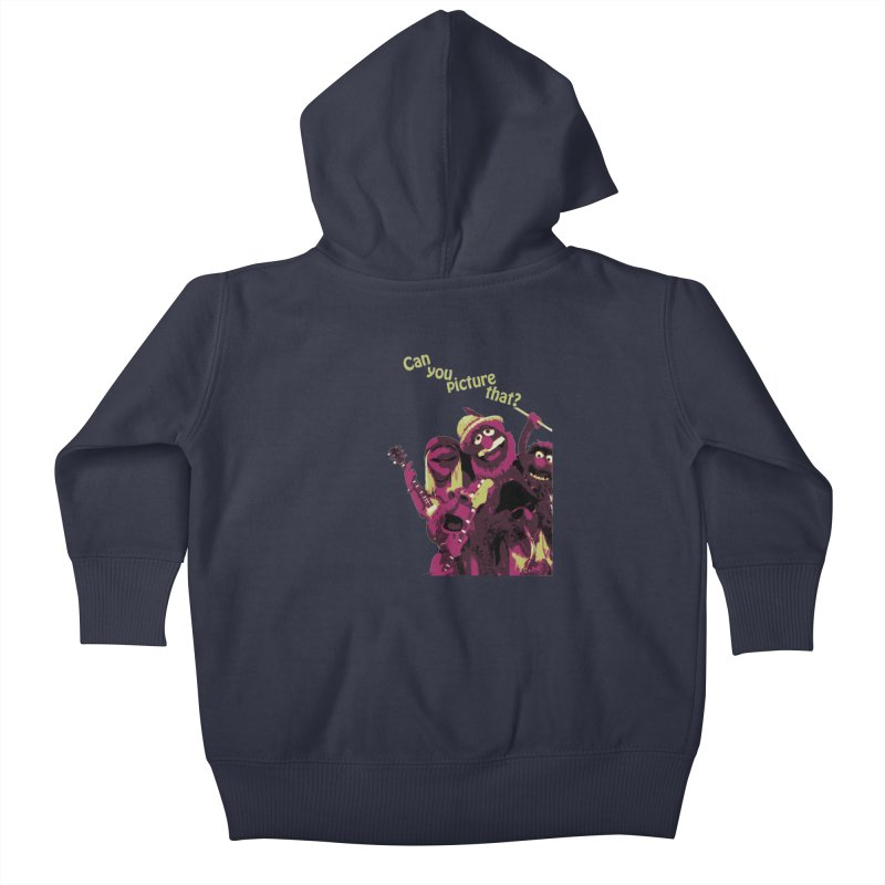 Can you Picture that? Kids Baby Zip-Up Hoody by Ellygator's Artist Shop
