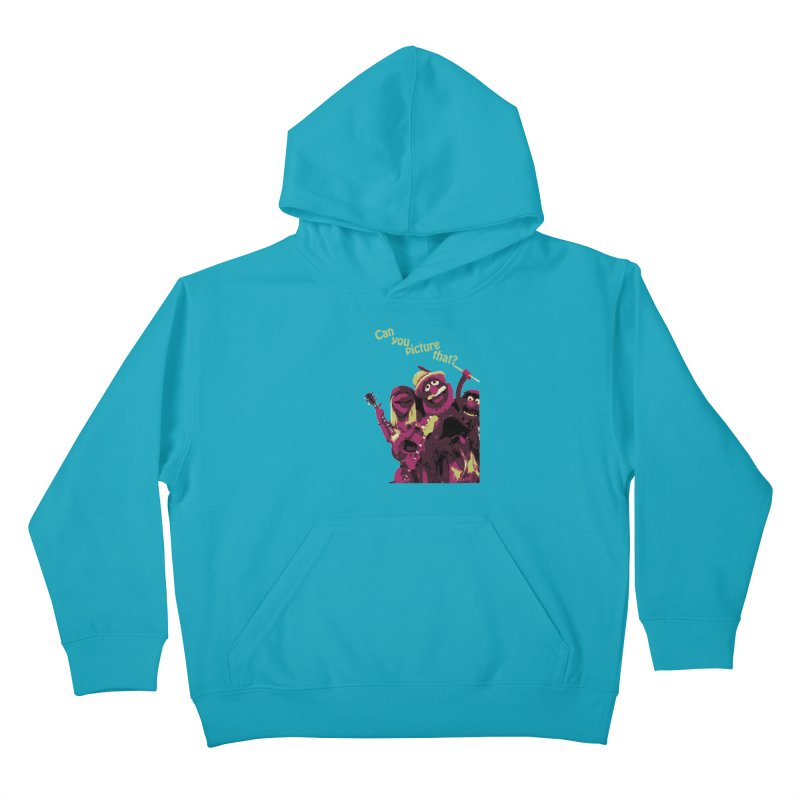 Can you Picture that? Kids Pullover Hoody by Ellygator's Artist Shop