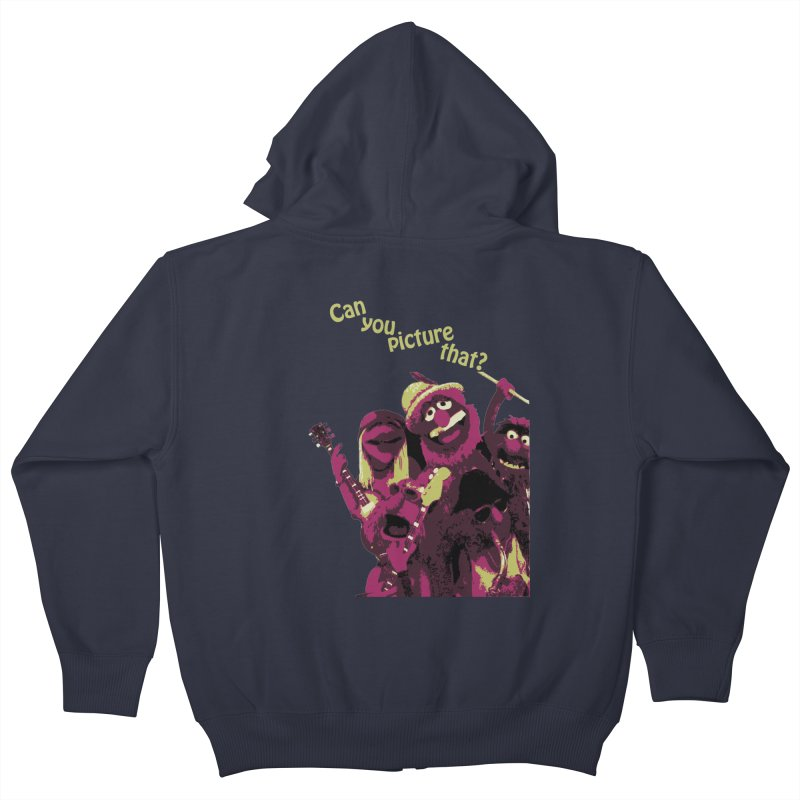 Can you Picture that? Kids Zip-Up Hoody by Ellygator's Artist Shop