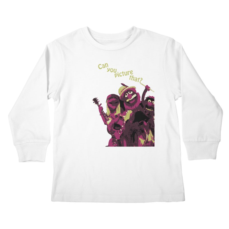 Can you Picture that? Kids Longsleeve T-Shirt by Ellygator's Artist Shop