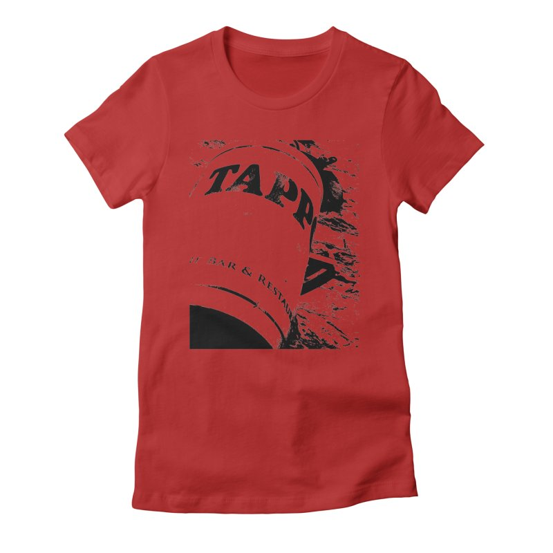 Tappo Bar Women's Fitted T-Shirt by Ellygator's Artist Shop