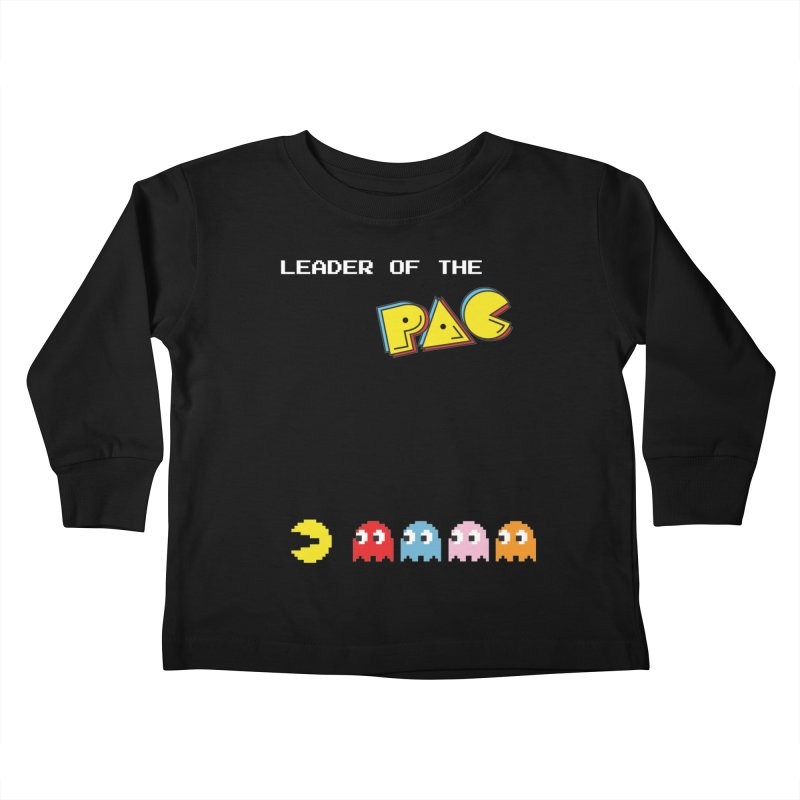 Leader of the Pac Kids Toddler Longsleeve T-Shirt by Ellygator's Artist Shop