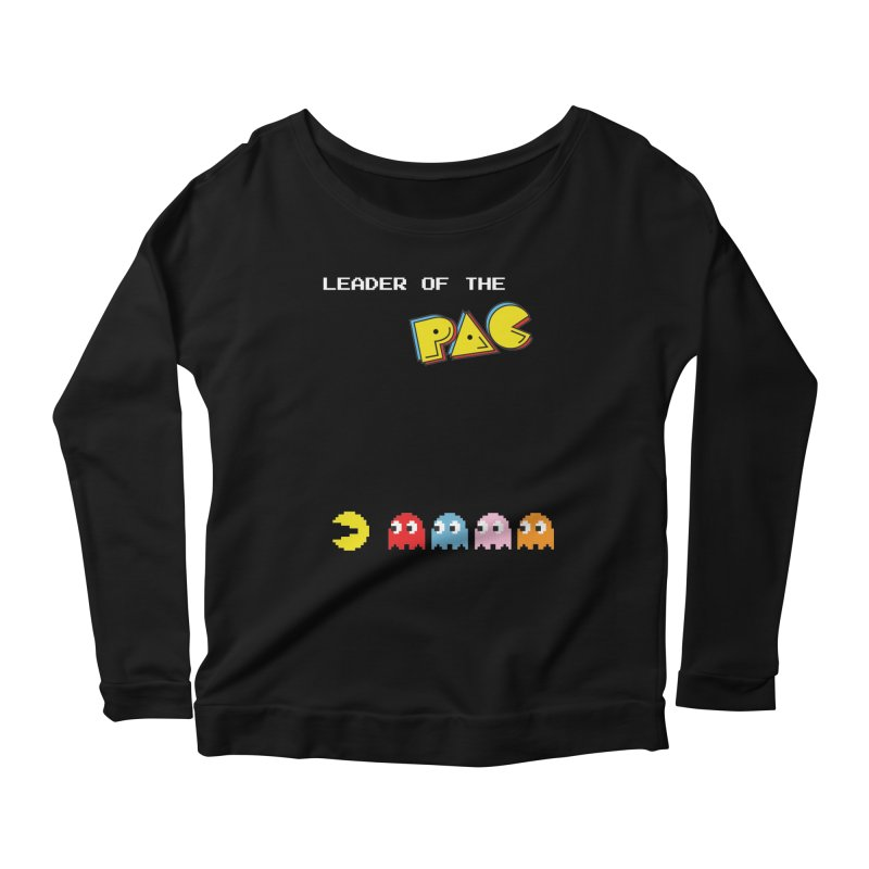 Leader of the Pac Women's Longsleeve Scoopneck  by Ellygator's Artist Shop