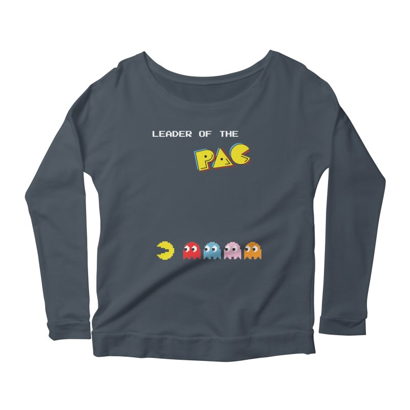 Leader of the Pac Women's Longsleeve Scoopneck  by Ellygator's Artist Shop