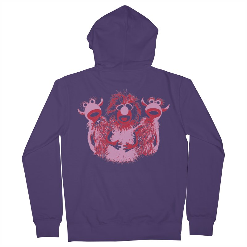 Mahna Mahna - Pink Women's Zip-Up Hoody by Ellygator's Artist Shop