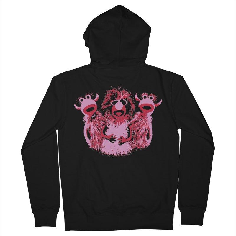 Mahna Mahna - Pink Men's Zip-Up Hoody by Ellygator's Artist Shop