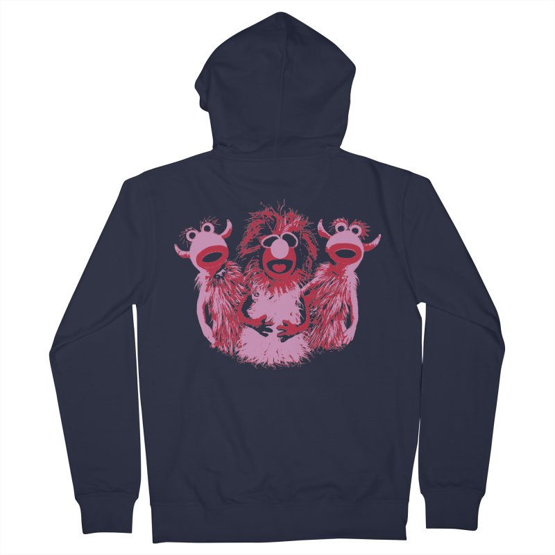 Mahna Mahna - Pink Men's Zip-Up Hoody by Ellygator's Artist Shop