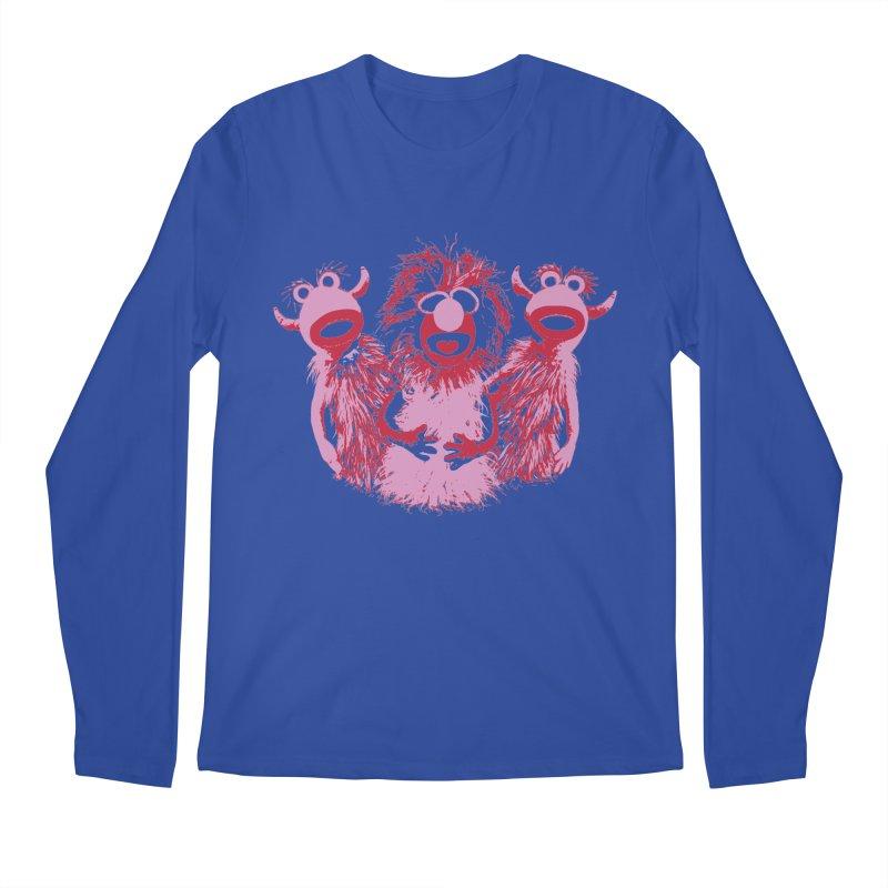 Mahna Mahna - Pink Men's Longsleeve T-Shirt by Ellygator's Artist Shop