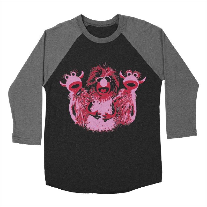 Mahna Mahna - Pink Men's Baseball Triblend T-Shirt by Ellygator's Artist Shop