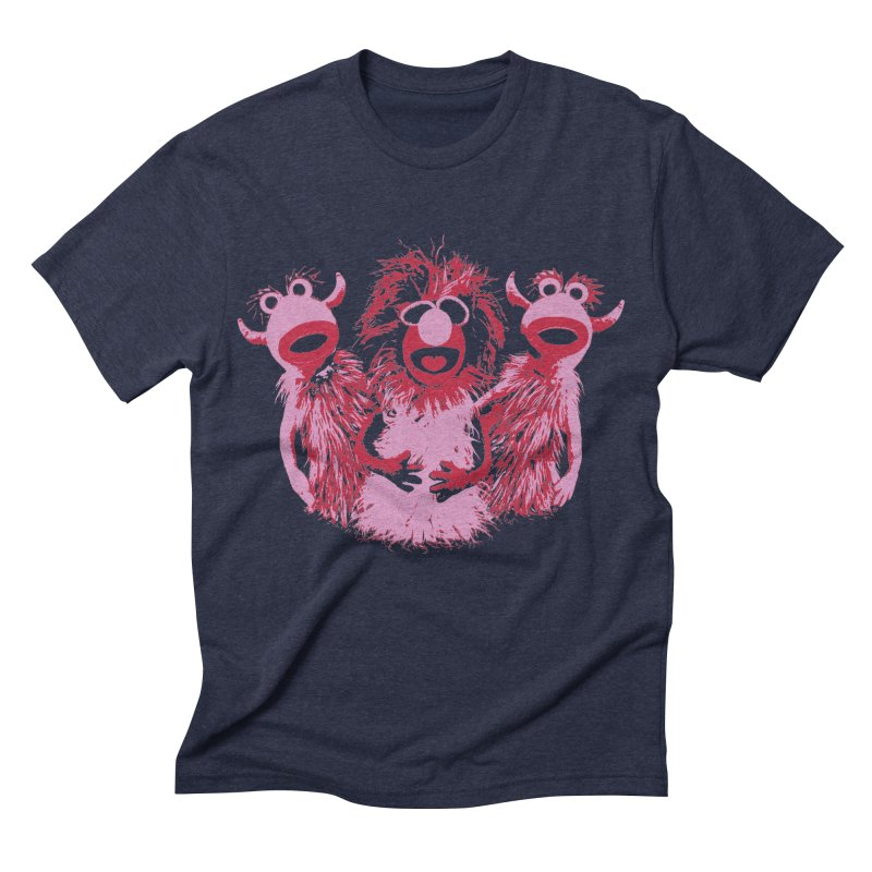 Mahna Mahna - Pink Men's Triblend T-shirt by Ellygator's Artist Shop