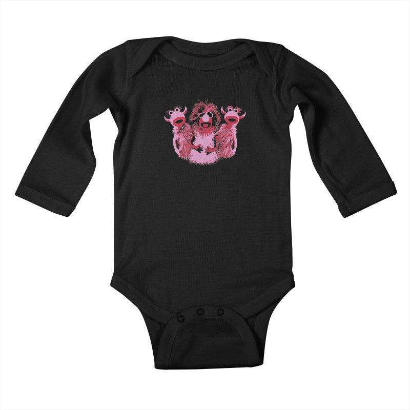 Mahna Mahna - Pink Kids Baby Longsleeve Bodysuit by Ellygator's Artist Shop