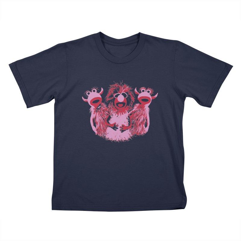 Mahna Mahna - Pink Kids T-shirt by Ellygator's Artist Shop
