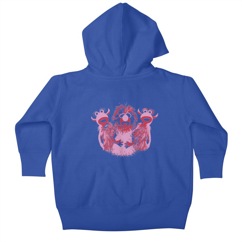 Mahna Mahna - Pink Kids Baby Zip-Up Hoody by Ellygator's Artist Shop