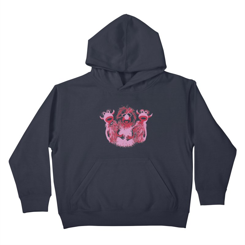 Mahna Mahna - Pink Kids Pullover Hoody by Ellygator's Artist Shop