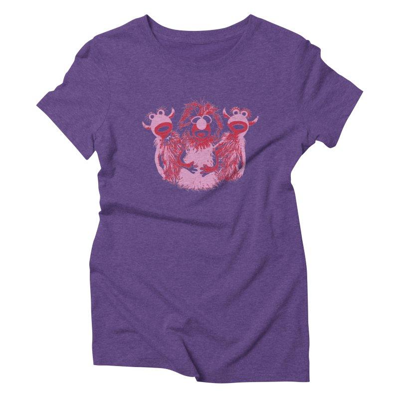 Mahna Mahna - Pink Women's Triblend T-Shirt by Ellygator's Artist Shop