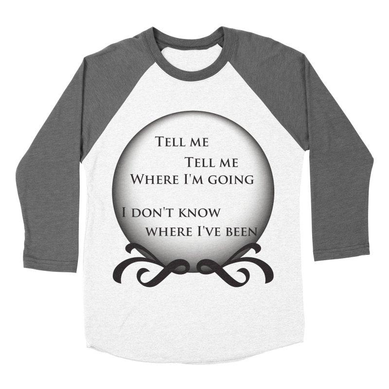 Crystal Ball Men's Baseball Triblend T-Shirt by Ellygator's Artist Shop