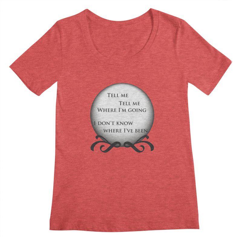 Crystal Ball Women's Scoopneck by Ellygator's Artist Shop