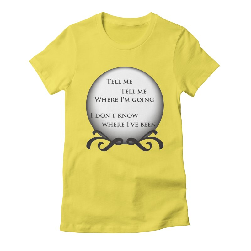 Crystal Ball Women's Fitted T-Shirt by Ellygator's Artist Shop
