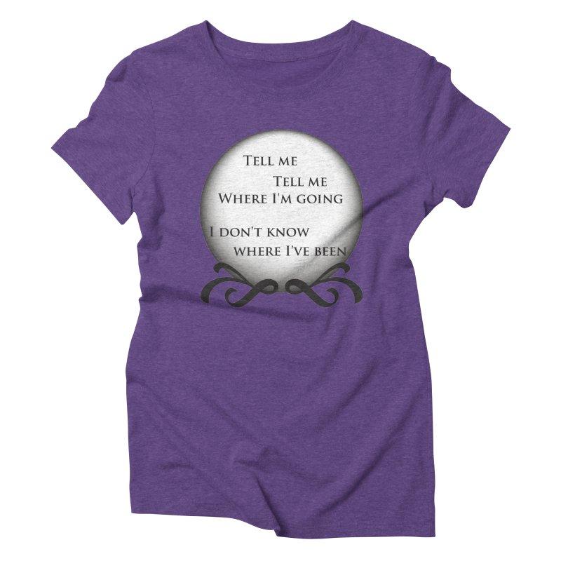 Crystal Ball Women's Triblend T-shirt by Ellygator's Artist Shop