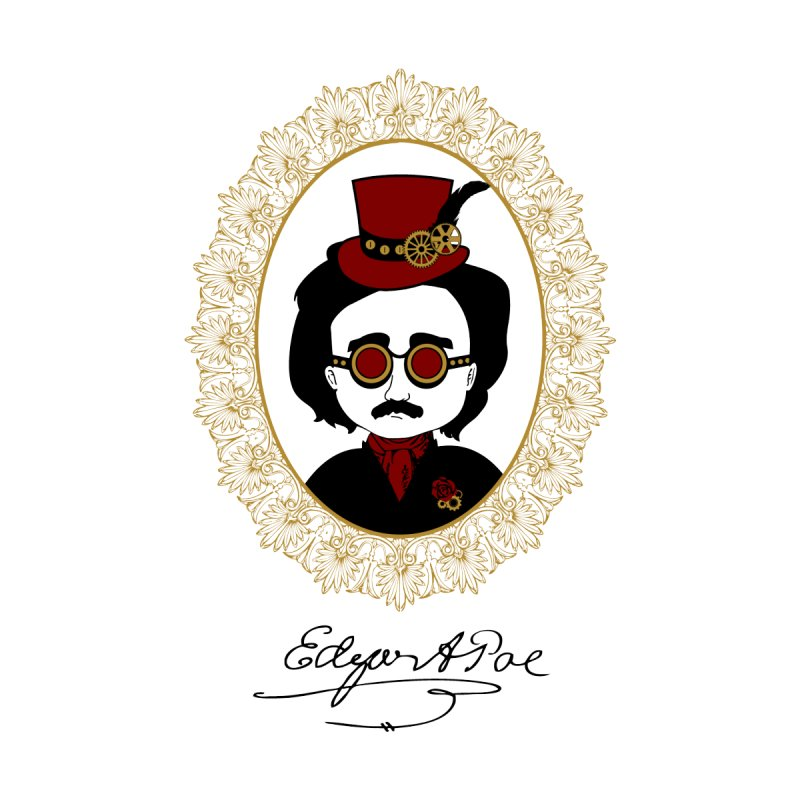 Steampunk Edgar Allan Poe - 2 by Ellygator's Artist Shop