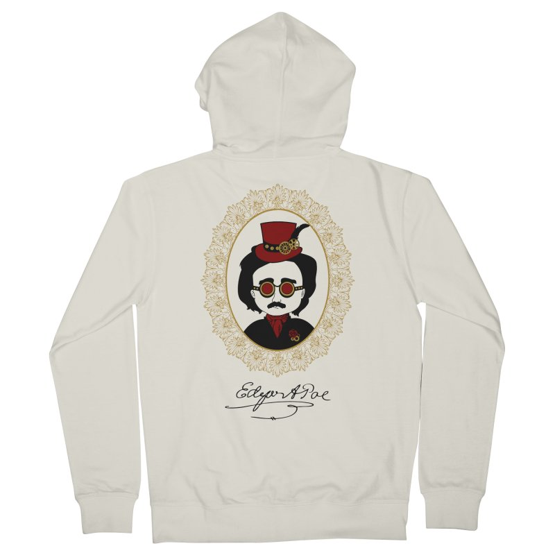 Steampunk Edgar Allan Poe - 2 Men's Zip-Up Hoody by Ellygator's Artist Shop