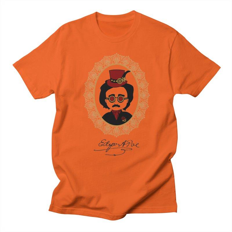 Steampunk Edgar Allan Poe - 2 Men's T-Shirt by Ellygator's Artist Shop