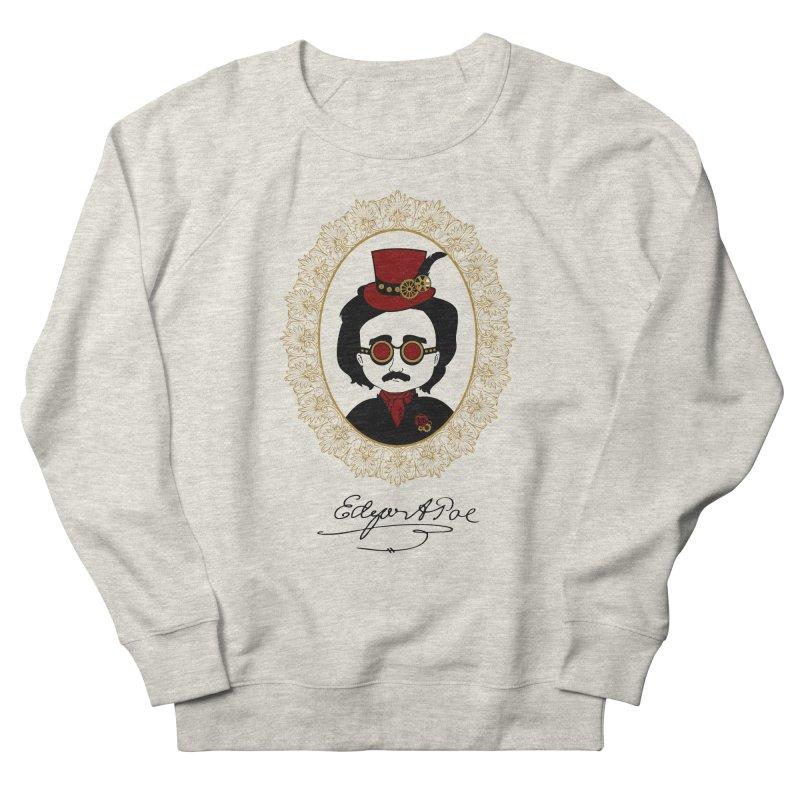 Steampunk Edgar Allan Poe - 2 Women's Sweatshirt by Ellygator's Artist Shop