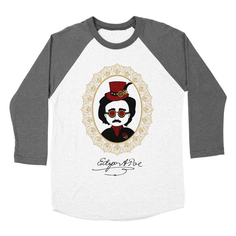 Steampunk Edgar Allan Poe - 2 Men's Baseball Triblend T-Shirt by Ellygator's Artist Shop