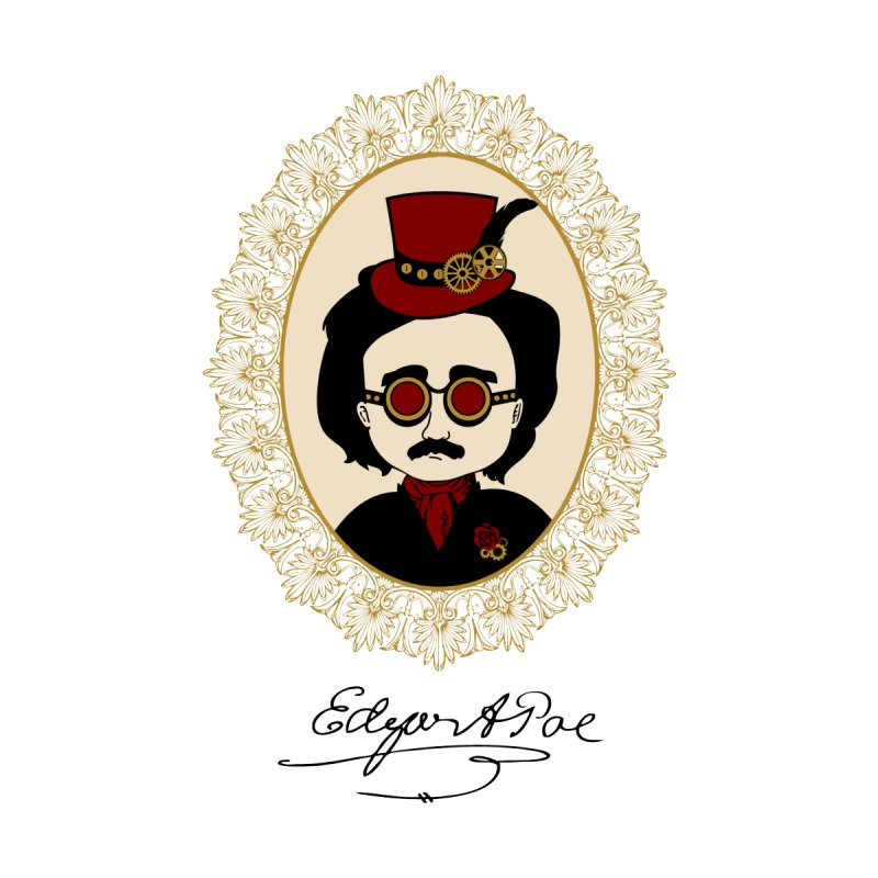 Steampunk Edgar Allan Poe None  by Ellygator's Artist Shop
