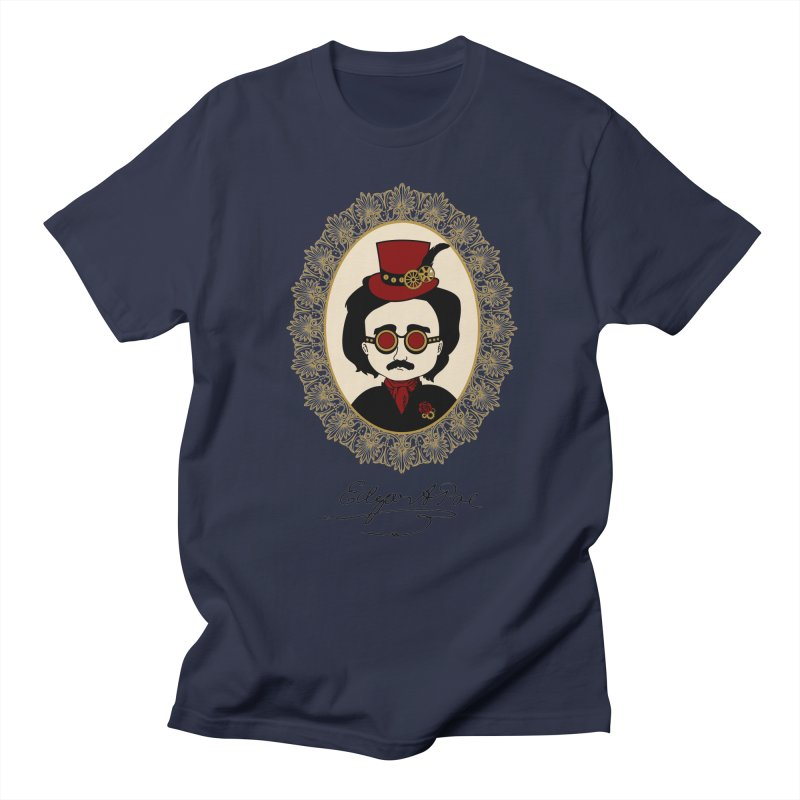 Steampunk Edgar Allan Poe Men's T-Shirt by Ellygator's Artist Shop