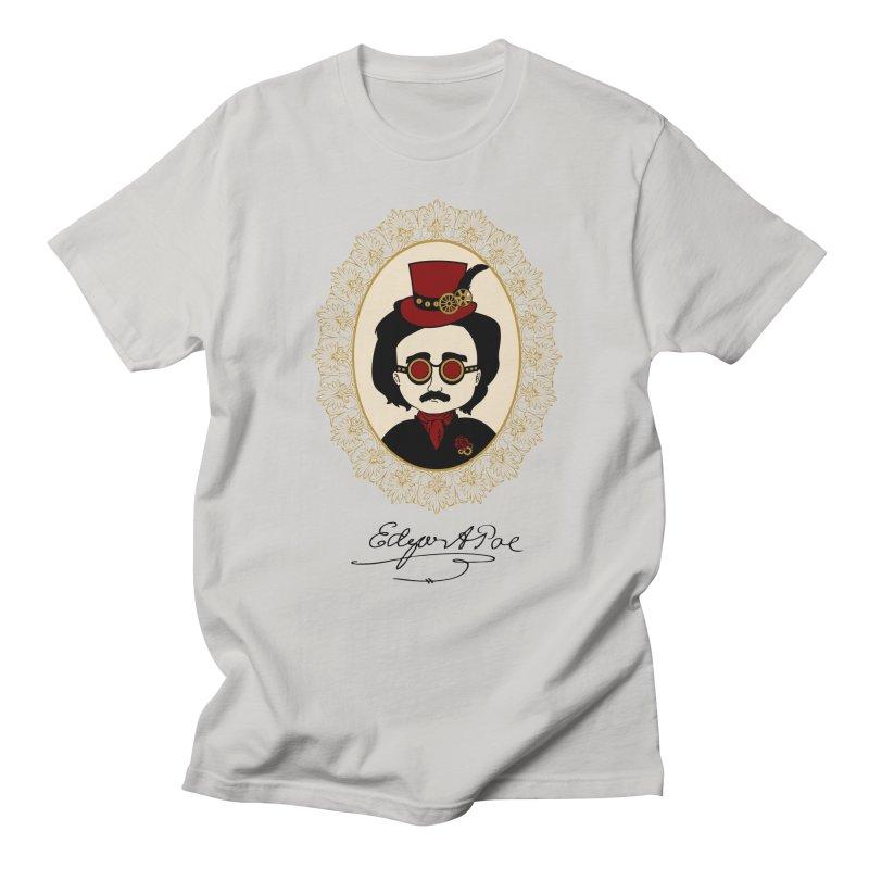 Steampunk Edgar Allan Poe Men's T-shirt by Ellygator's Artist Shop
